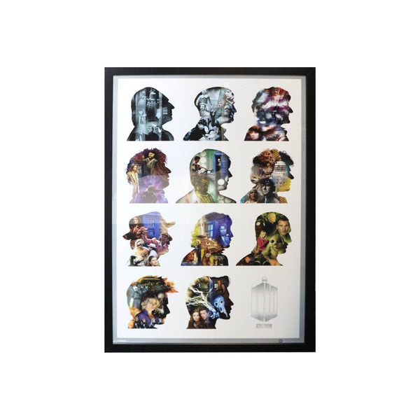 Doctor Who 11 Heads - Framed