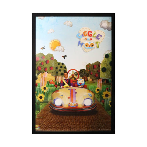 Giggle And Hoot Poster- Framed