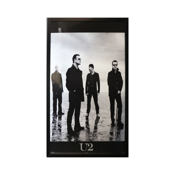 U2 Band Black And White Poster - Framed