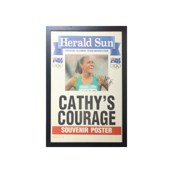 Cathy's Courage - Souvenir Poster Signed And Framed