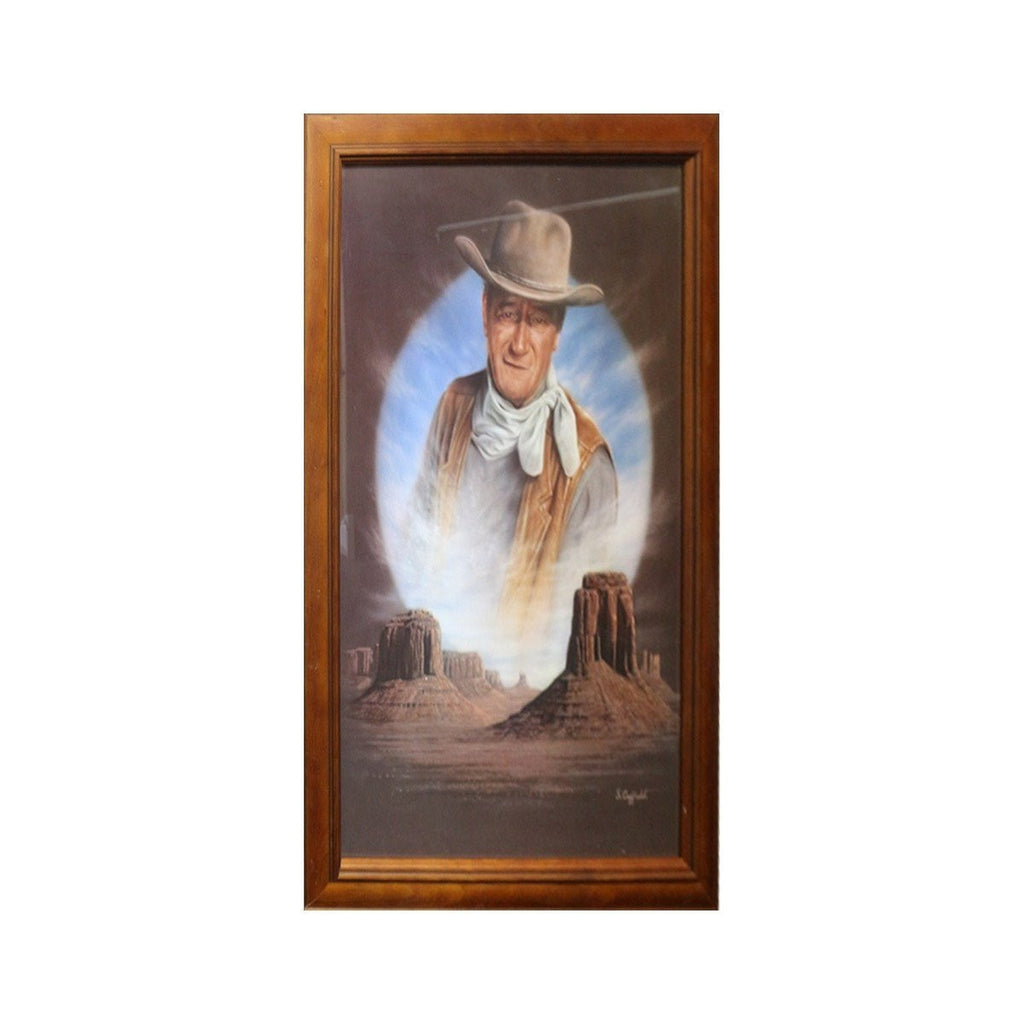 John Wayne The Cowboys Print - Framed