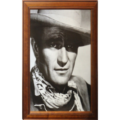 John Wayne - Black And White Poster Framed