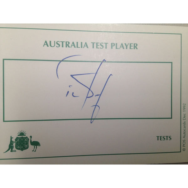 Australian Test Cricketer Card Signed - Tim May