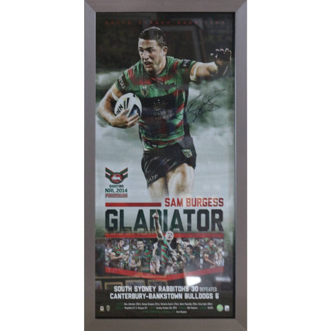 Sam Burgess Gladiator - Rabbitohs Signed & Framed