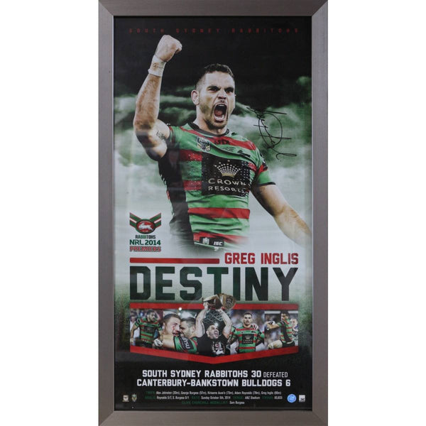 NRL-Greg Inglis Destiny - Rabbitohs Signed & Framed