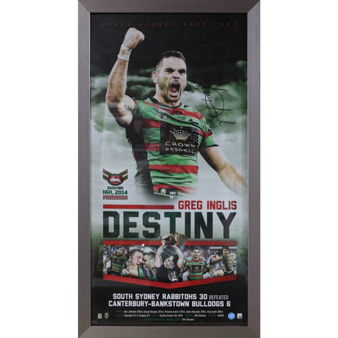 Greg Inglis Destiny - Rabbitohs Signed & Framed