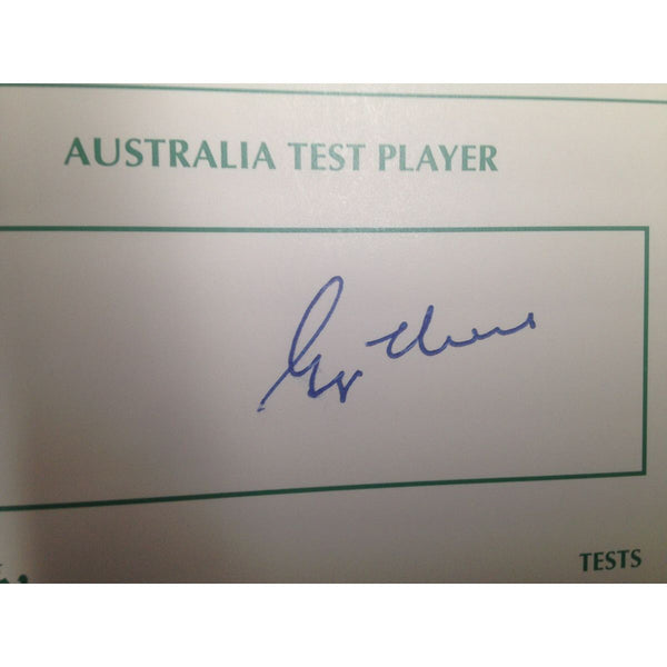 Australian Test Cricketer Card Signed - George Thoms