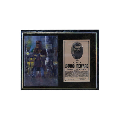 NED KELLY - $8000 REWARD POSTER WITH PRINT - FRAMED