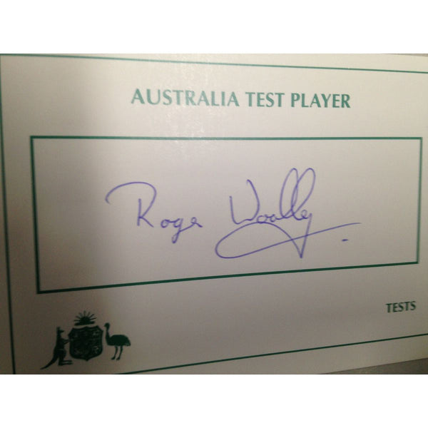 Australian Test Cricketer Card Signed - Roger Woolley