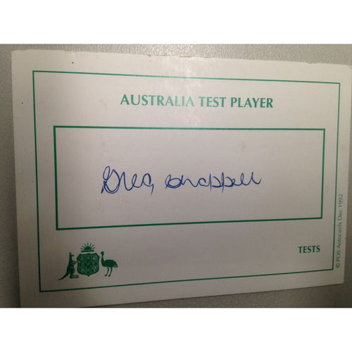 Australian Test Cricketer Card Signed - Greg Chappell