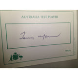 Australian Test Cricketer Card Signed - Tony Mann