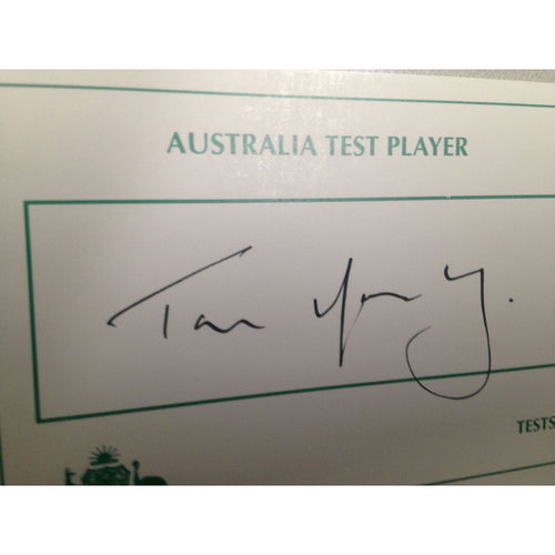Australian Test Cricketer Card Signed - Tim Moody