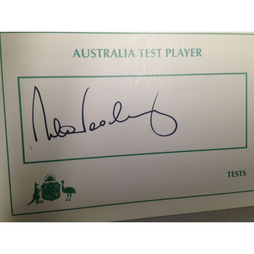 Australian Test Cricketer Card Signed - Roger Wooley