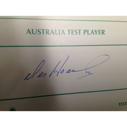 Australian Test Cricketer Card Signed - Des Hoare