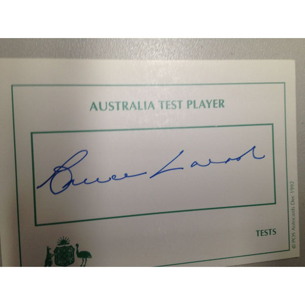 Australian Test Cricketer Card Signed - Bruce Laird