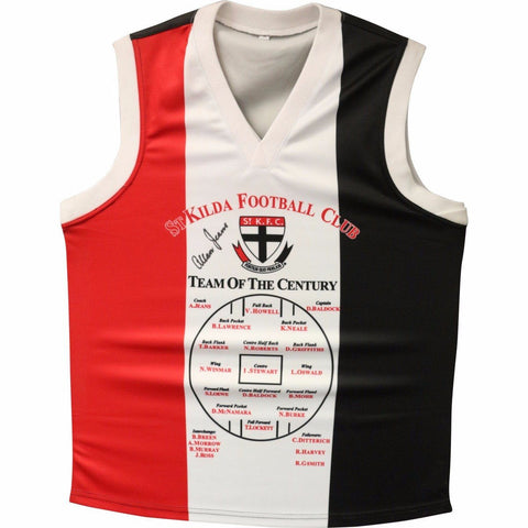 St Kilda Football Club Jersey - Team Of The Century Signed