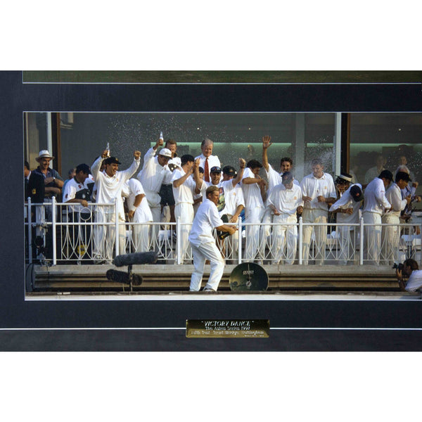 "The Ashes ""Victory Dance"" of 1997 Framed"