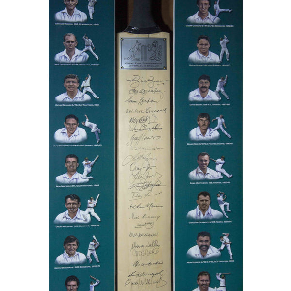 Great Test Performances Bat- Australia V England- 24 Signatures