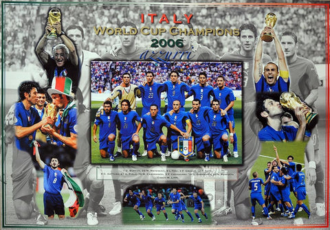 Italy 2006 World Cup Champions Poster