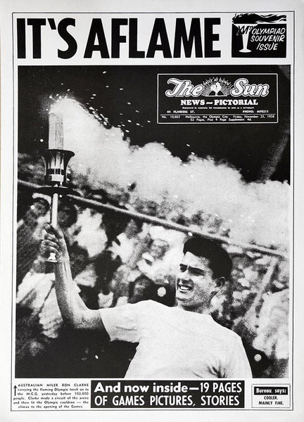 The Sun 1956 Olympic Souvenir Print