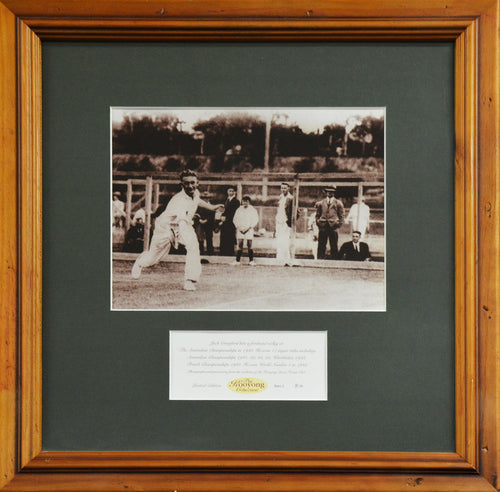 Jack Crawford 'Kooyong Collection' Framed Photograph