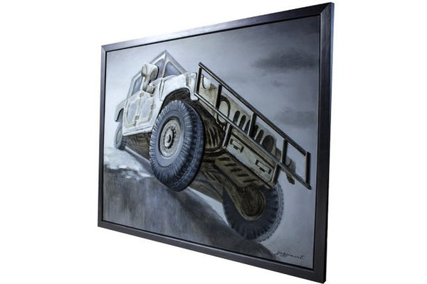 3D - Jeep Oil Painting