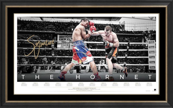 The Hornet – Jeff Horn Personally Signed Icon Series Lithograph