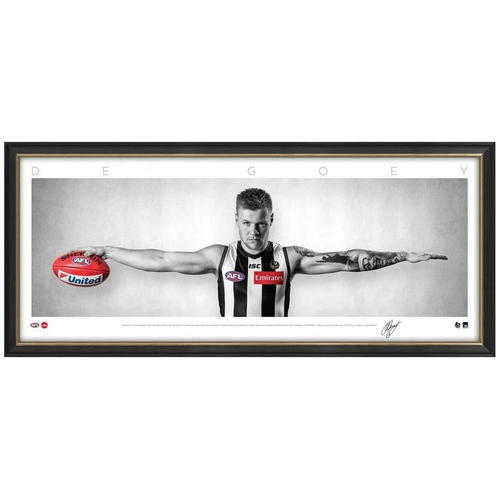 COLLINGWOOD-Jordan De Goey Collingwood Mini WINGS Official AFL Print FRAMED