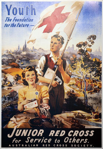WW1 Enlistment Red Cross Poster