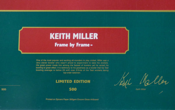 Keith Miller Frame By Frame Bowling Signed