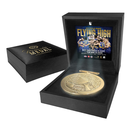 WEST COAST EAGLES 2018 AFL PREMIERS MEDAL DISPLAY