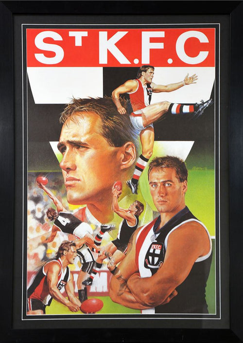 Tony Lockett St Kilda Brian Clinton Print
