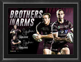 NRL-MANLY DUAL SIGNED 'BROTHERS IN ARMS'