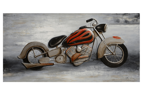 3D Cruiser Motorcycle Oil Painting
