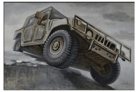 Jeep 3D Oil Painting