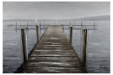 3D - Boat Dock Framed Canvas-