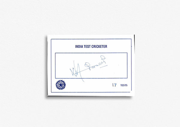 Indian Test Cricketer Card Signed - Narendra Hirwani