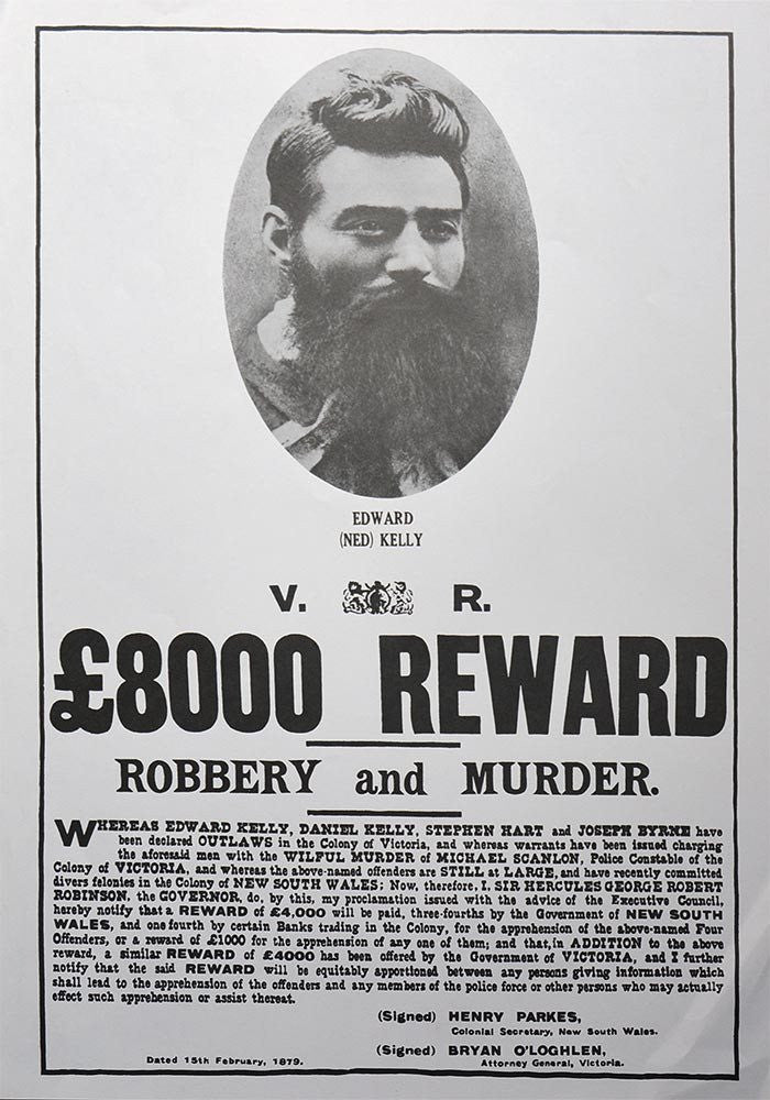 ned kellu Biography, landmarks and exhibitions, depictions in the media and the arts, and image gallery of ned kelly australian iron outlaw and the kelly gang.