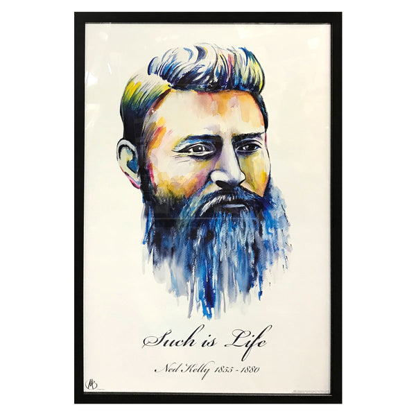 Ned Kelly- Such is Life Portrait Poster