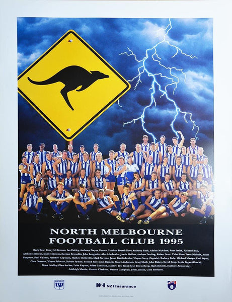 North Melbourne 1995 Team Poster