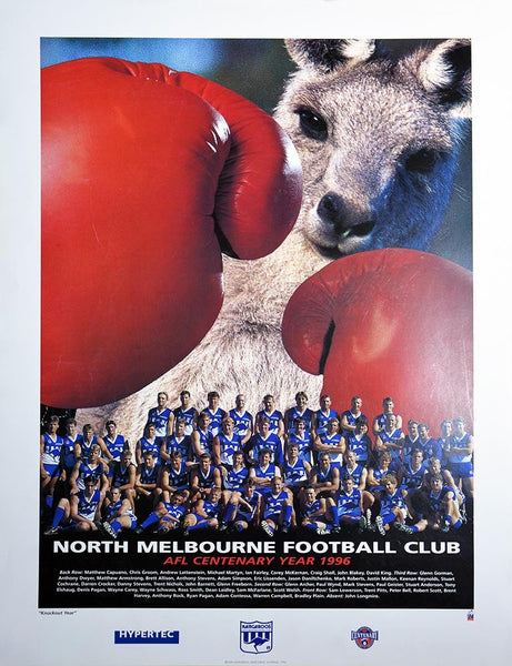 North Melbourne 1996 Team Poster