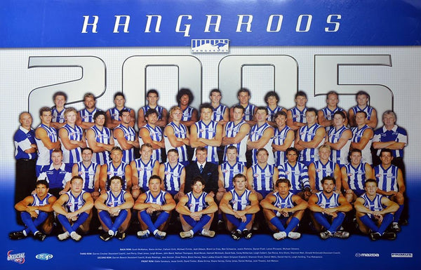 North Melbourne 2005 Team Poster