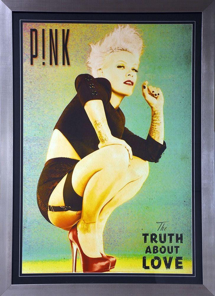 Pink - The Truth About Love Poster - Silver Frame