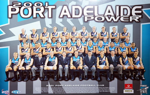 Port Adelaide 2001 Team Poster
