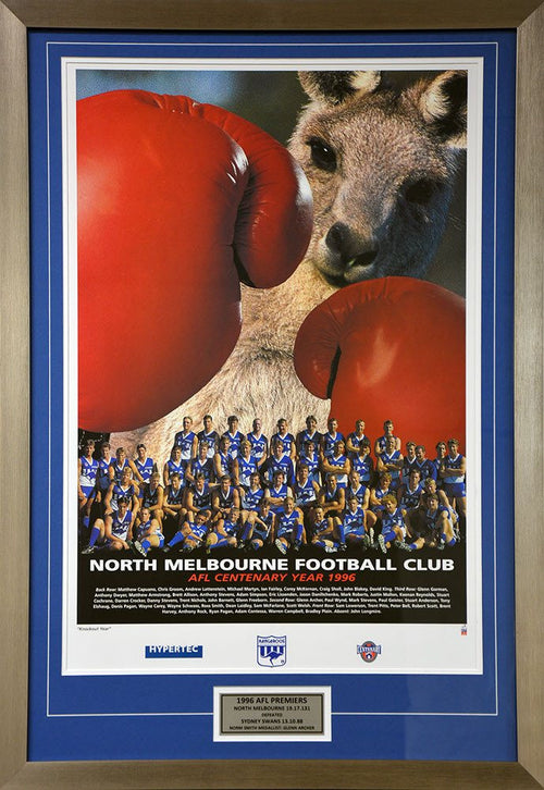 North Melbourne Matted Team Poster 1996