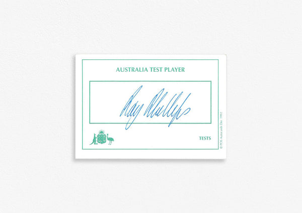 Australian Test Cricketer Card Signed - R. Phillips