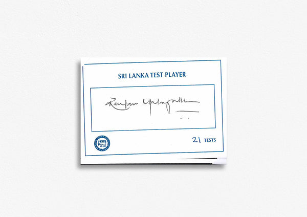 Sri Lanka Test Cricketer Card Signed - Ranjan Madugale