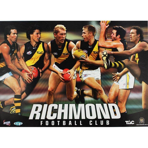 Richmond Official AFL 6 Player Poster