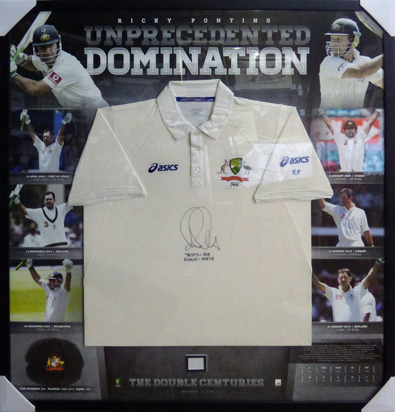 Ricky Ponting Signed and Framed Shirt