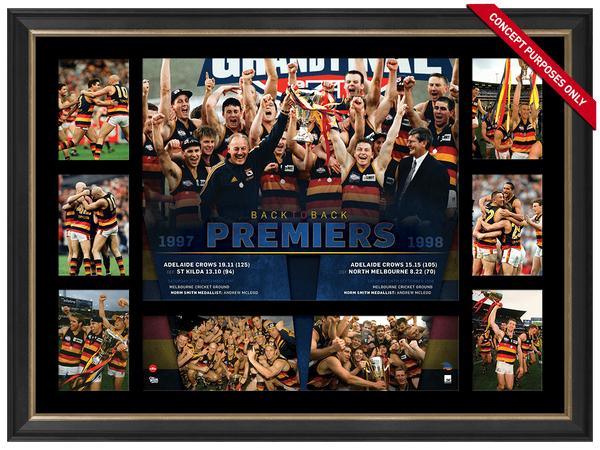 Adelaide Back to Back Premiers Super Frame